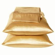 Gold/Bronze Bedding Charmeuse Satin Pillowcases Queen - $9.99