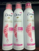 3x  Dove Concentrated Body Wash Mousse Rose Oil, 10.3 oz Each - $27.99