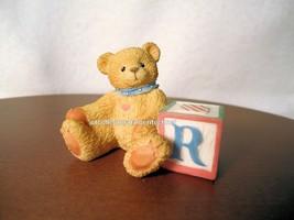 Cherished Teddies Bear With ABC R Alpha Letter Block 1995 NIB - $18.76