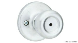 Kwikset Mobile Home Satin Chrome Steel Privacy Knob 3 Right/Left Handed 93001877 - $13.80