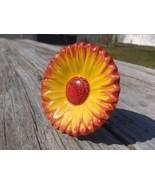 Sun Flower Cabinet Knob Drawer Pull Handle Painted Ceramic 1858414 Hobby... - $5.83