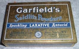 Vintage Garfield's Seidlitz Powders Sparkling Laxative Antacid Tin w/ Co... - $10.00