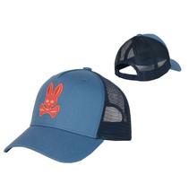 Psycho Bunny Men's Embroidered Snapback Mesh Adriatic Baseball Cap Trucker Hat