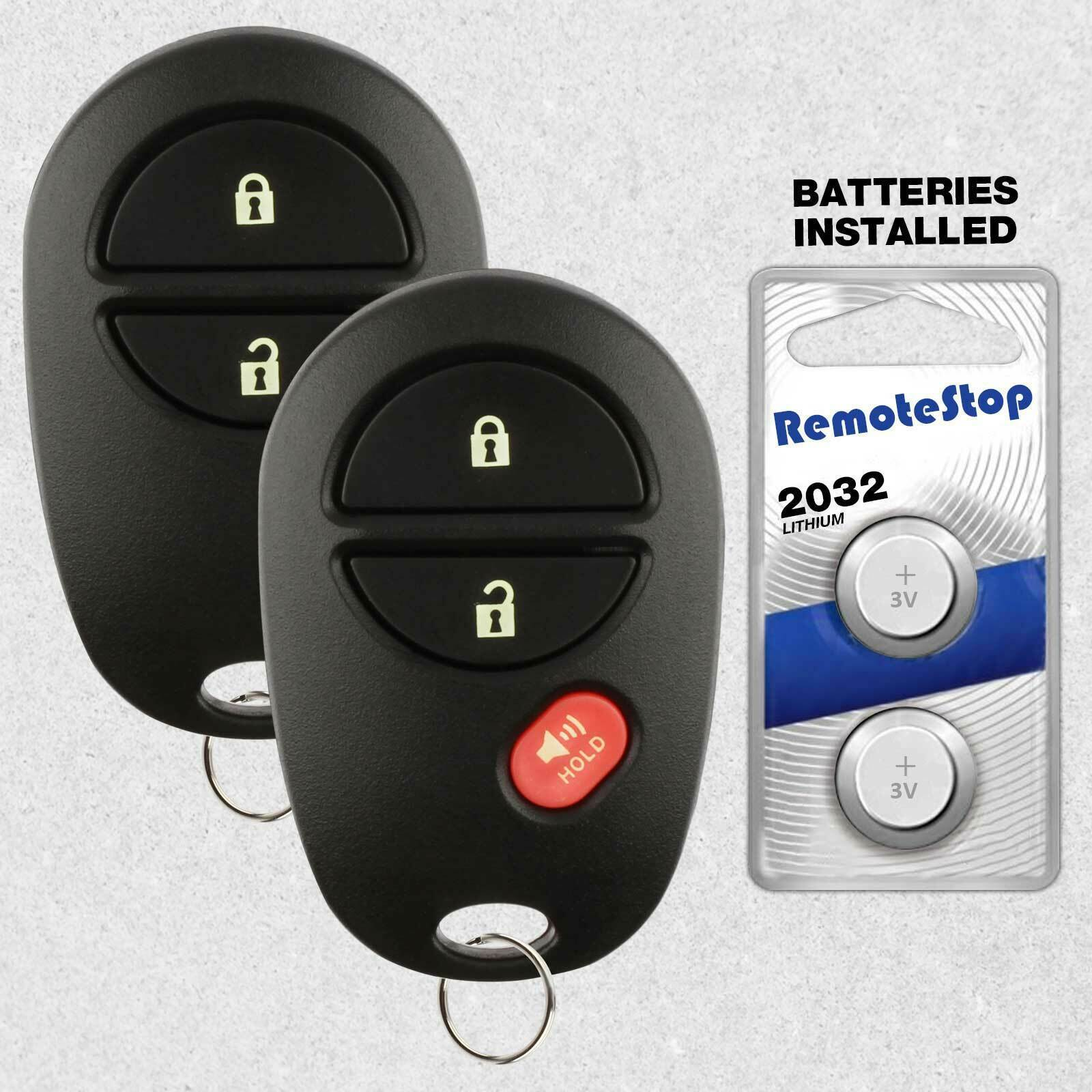 Primary image for 2 For 2011 2012 2013 2014 2015 Toyota Sienna Tacoma Keyless Entry Remote Car Fob