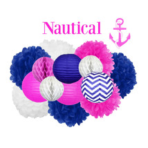 Nautical Baby Shower Girl Decoration - Hanging ... - $39.00