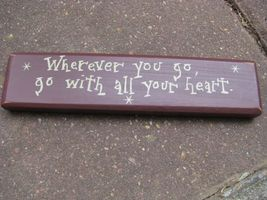 m9906w-Wherever you go...heart Wood Block - $4.95