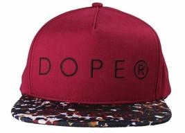 Dope Couture D0915-H206-BUR Seurat hook Loop Strapback Cap Burgundy Speckled Hat image 1