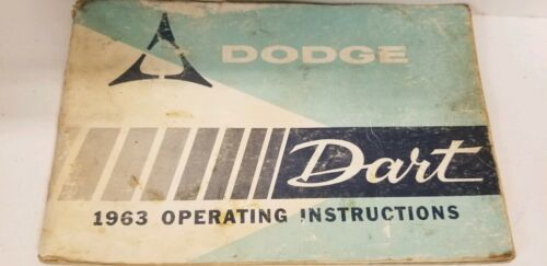 1963 Dodge Dart Owners Manual And Owners Service Certificate Book image 5