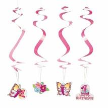 "1st Birthday Butterfly Dangling Swirls 12 Pack-  Paper. Hangs approx. 30"" - $7.59"