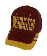 Washington Window Shade Font Men's Adjustable Baseball Cap (Burgundy/Gold) - $12.95