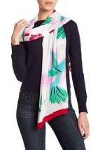 "NWT $98 Kate Spade Hummingbird Print Scarf in Cream 64"" x 23"" - $44.99"
