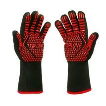 BBQ Grill Gloves [1472℉ NEWEST] EN407/EN420 CE Heat Resistant - Oven Sil... - $22.42