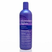 Clairol Professionals Shimmer Lights Shampoo Blonde and Silver 16oz - $10.20