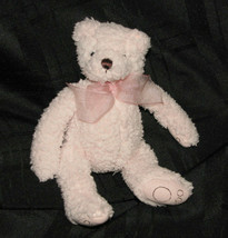 Bath And & Body Works Stuffed Plush Pink Sherpa Small Mini Teddy Bear Pink B EAN S - $24.74