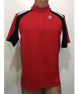 Cannondale Mens L Red Short-Sleeve Bike Jersey 1/2 Zip - $27.93
