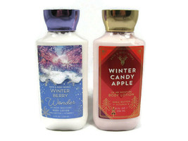 Bath & Body Works Set 2 Body Lotions 24 Hour Moisture Winter Berry Candl... - $29.69