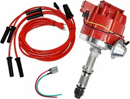 Buick Odd Fire HEI Distributor 231 3.8L V6 225 3.7L Dauntless 8mm Spark Plug Kit image 1