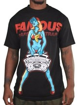 Famous Stars & Straps Mens Black or White My Radio Boombox Girl T-Shirt NWT