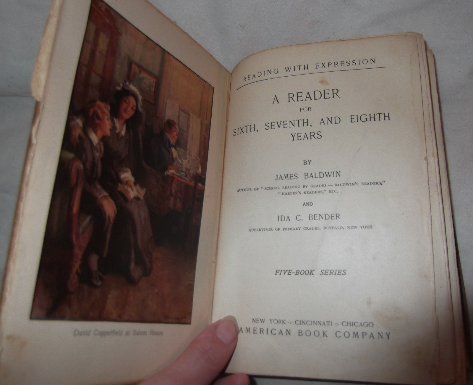 Antique A Reader for Sixth Seventh & Eighth Year Children's School American Book