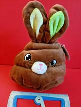 Chocolate Bunny Head Plush Easter Rabbit Stuffed Animal Goffa New Toy Holiday - $5.69