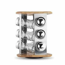 LINKO HOUSEWARE Revolving Spice Rack with 9 Glass Spice Jars - $43.29