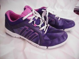 ADIDAS ADIPRENE Sneakers 9.5 Womens Purple Pink White Running Walking - $44.54