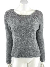 Express Sweater Small Gray Marled Boatneck Long Sleeve Cropped Pullover ... - $19.80
