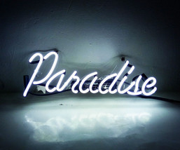 "New Paradise Wall Decor Acrylic Back Neon Light Sign 14"" Fast Ship - $60.00"