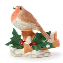 Lenox 2019 Christmas Robin Bird Figurine Garden Bird Holly Berries NEW - $79.20