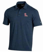 Ole Miss Rebels NCAA Men's Under Armour Striped Golf Polo Shirt, NWT - $33.20