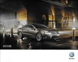 2013 Volkswagen CC brochure catalog US 13 VW 2.0T R-Line Lux V6 4MOTION - $8.00