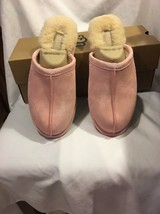 Uggs UGG W Pearle Sheepskin Pink Women's Slippers Sz 9 Slip On Warm Cozy Suede - $90.00