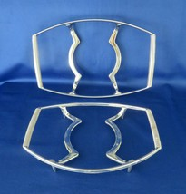 Corning Casserole  Silver Cradles / Carriers TWO - $12.00