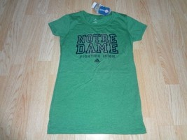 Women's Notre Dame Fighting Irish M NWT Bling Tee Adidas (Green) - $14.95