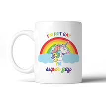 365 Printing LGBT Gay Unicorn Rainbow White Mug - $14.99