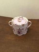 Rosenthal Monbijou Helios Sugar Bowl With Lid Vintage Germany Purple Gol... - $40.00