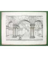 ARCHITECTURE PRINT Scarce : Italy Crypt in S. Martino ai Monti Rome - $16.87