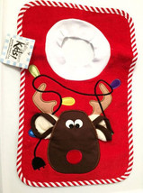 Reindeer Pullover Bib With Washcloth - $12.00