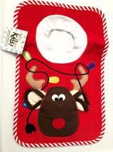 Reindeer Pullover Bib With Washcloth - $12.00