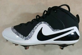 Nike Zoom Trout 4 Metal Baseball Cleats Size 14  NEW 917837 Black white ... - $35.63