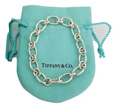 "Tiffany & Co 7.5 "" Oval Link Chain Clasping End Bracelet Sterling Silver... - $245.00"