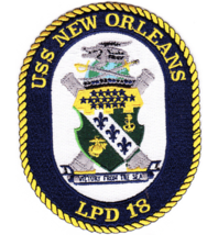 "5"" NAVY USS LPH-18 NEW ORLEANS EMBROIDERED PATCH - $23.74"