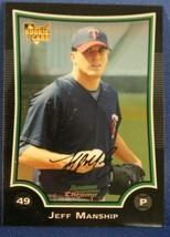 2009 Bowman Chrome Draft Baseball #BDP2 Jeff Manship RC - $0.99
