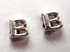 "The Letter ""B"" Stud Earrings 925 Sterling Silver Corona Sun Jewelry b - $3.95"