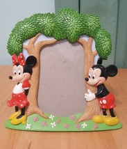 Walt Disney 3D Mickey Mouse & Minnie Tree Picture Photo Frames  5 x 3 in - $16.80