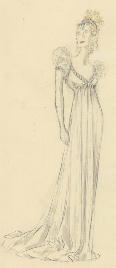 Ernst Dryden (1887-1938) - Fine Early 20th Century Graphite Drawing, Ball Gown