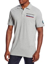 NEW PUMA MEN'S PREMIUM BMW M SPORT COTTON POLO SHIRT TEE GRAY 56709404 SIZE S