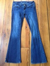 American Eagle Stretch Artist Low Rise Flared Dark Wash Women Jeans 00 S... - $1,000.00