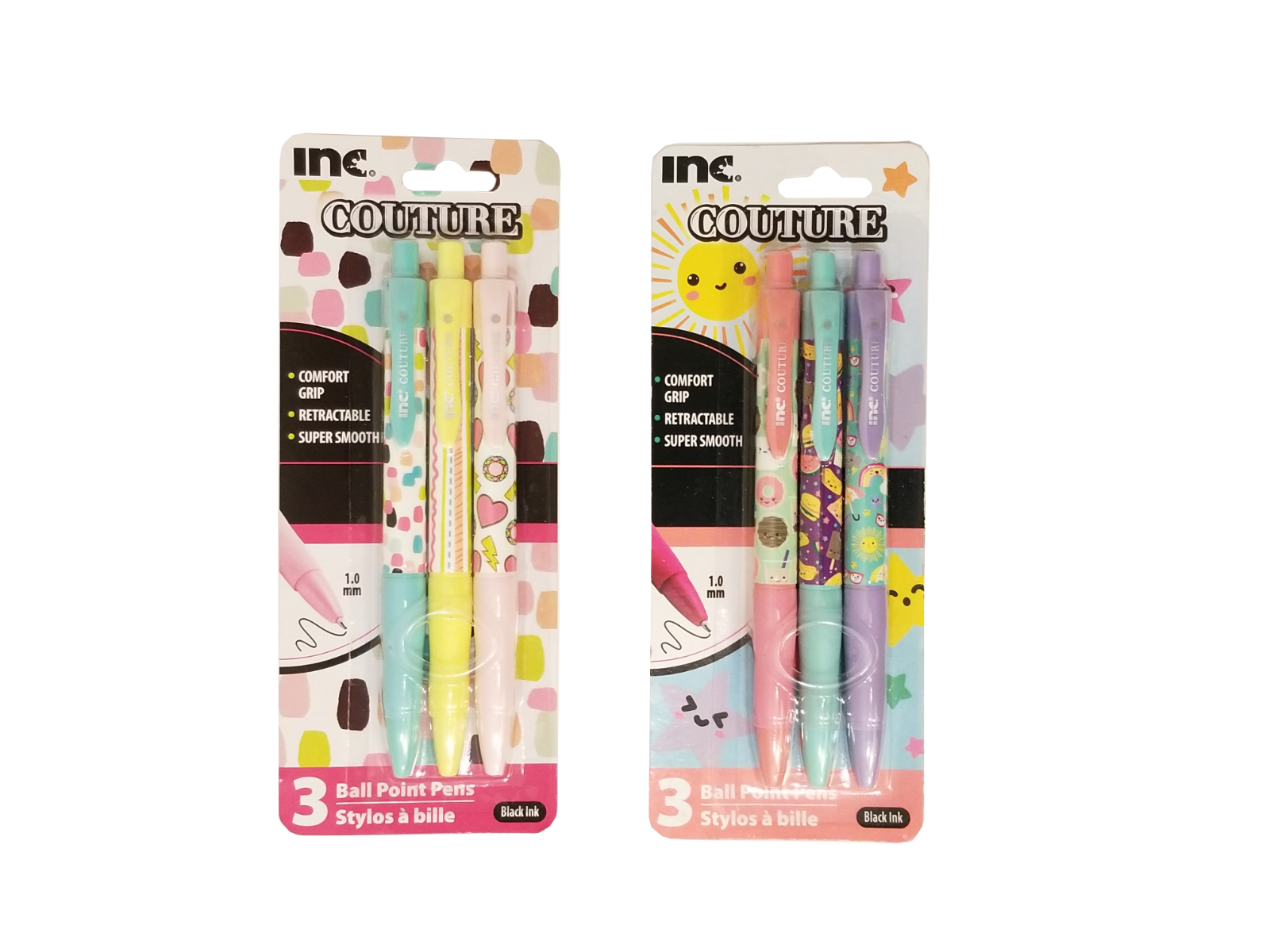 Inc Couture Ball Point Pen Pack Cute For School