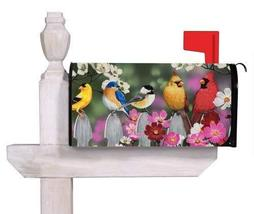 """Evergreen Flag Picket Fence Bird Friends Magnetic Mailbox Cover - 18""""W x... - $19.59"""
